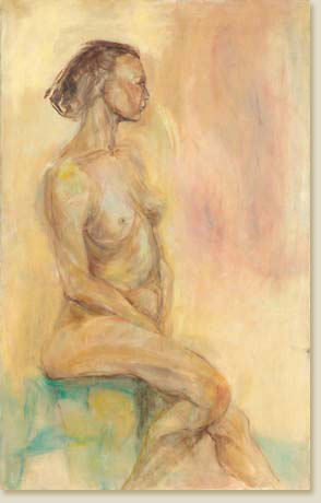 Seated Woman by Elizabeth Delson